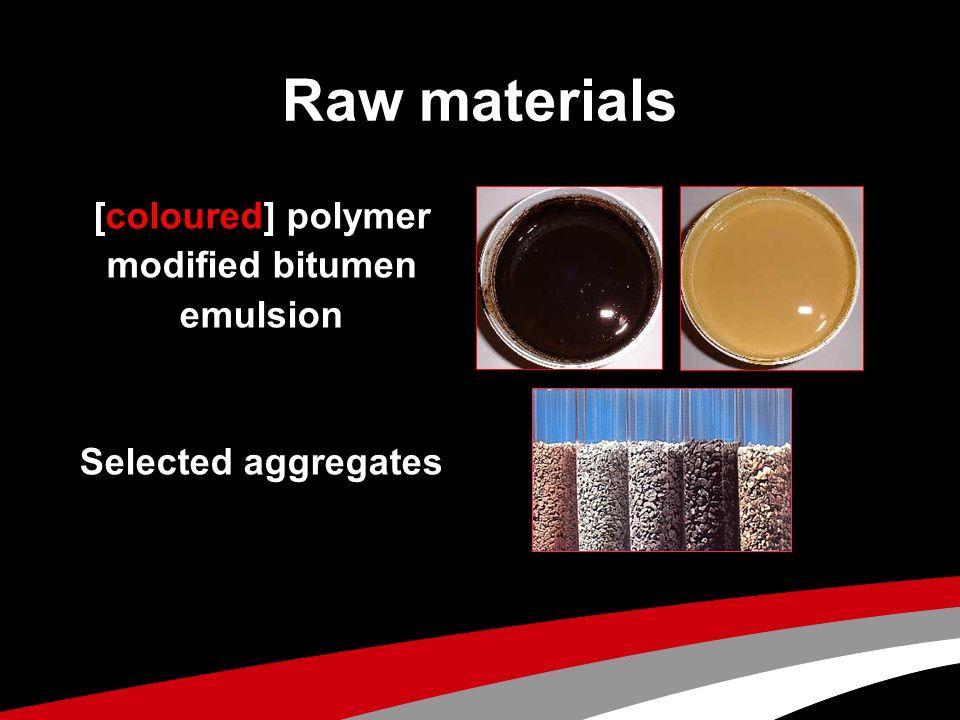 [coloured] polymer modified bitumen emulsion